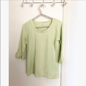 J.Jill • lime green 3/4 sleeve t shirt